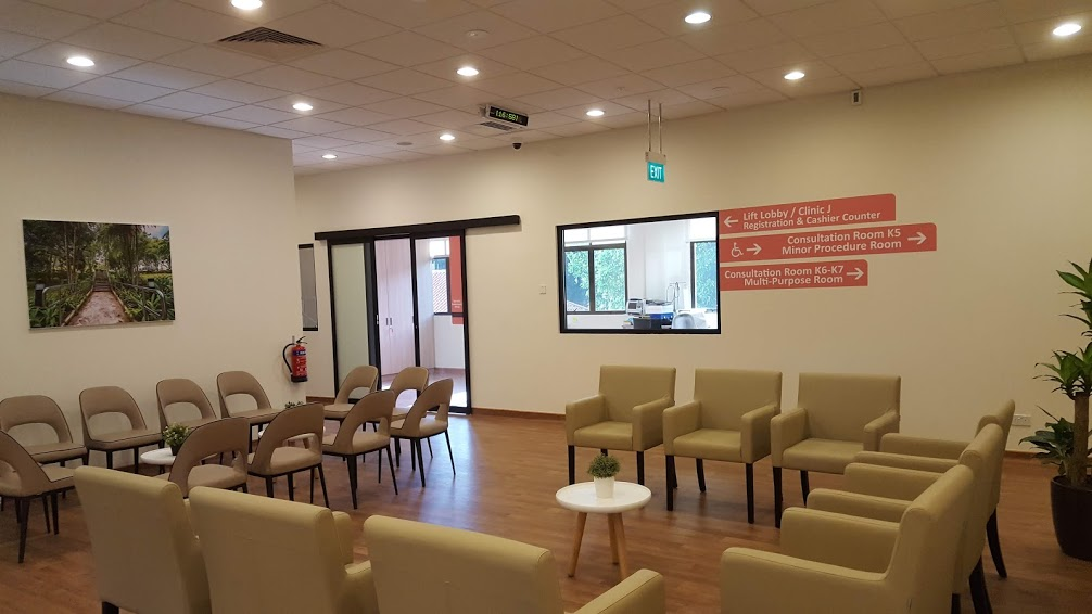 The main waiting area of Clinic K.
