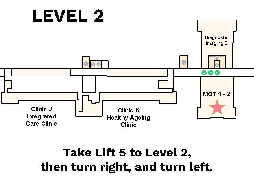 major operating theatre 3 and 4 are located at level 3 of block 6  take  lift 5 to level 3, then turn right, and turn left